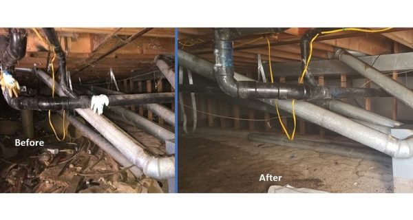 Crawlspace Encapsulation and restoration - Before and After
