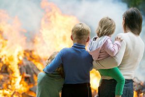 family affected by house fire