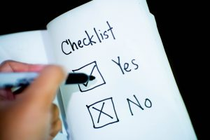 compliance check list